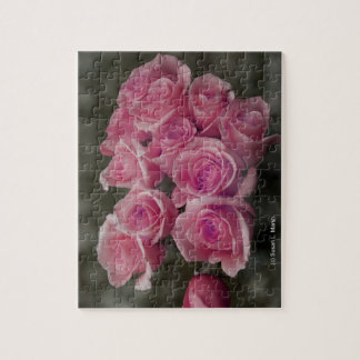 pink colorized rose bouquet Spotted background Jigsaw Puzzles