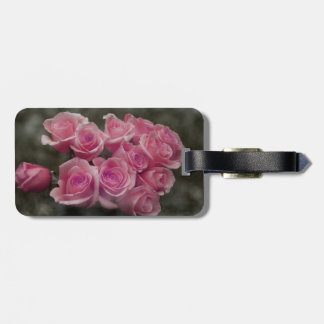 pink colorized rose bouquet Spotted background Tags For Bags