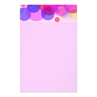 Pink & colours Polkadots Customized Stationery
