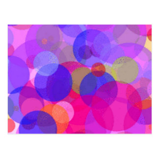 Pink & colours Polkadots Postcard