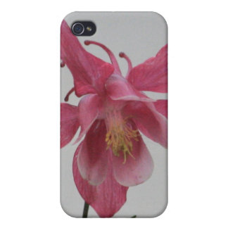 Pink Columbine 4/4s iPhone 4 Case