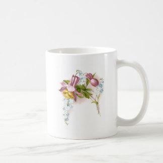Pink Columbine Flower Victorian Trade Card Coffee Mug