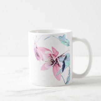 Pink Columbine Flowers Art Mug