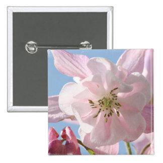 Pink Columbine Flowers Pin