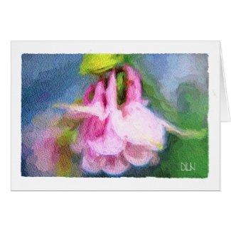 Pink Columbine/Foral/Watercolor Look