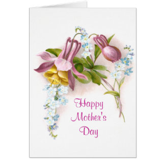 Pink Columbine Mother's Day Card