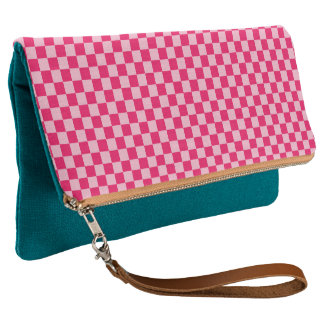 Pink Combination Classic Checkerboard by STaylor Clutch