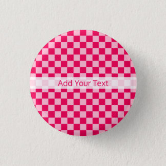 Pink Combination Classic Checkerboard by STaylor Pinback Button