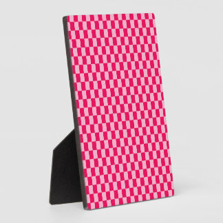 Pink Combination Classic Checkerboard by STaylor Plaque