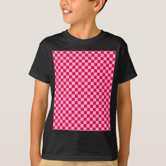 Pink Combination Classic Checkerboard by STaylor T-Shirt