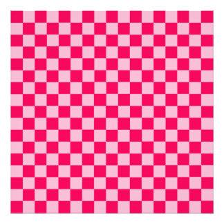 Pink Combination Classic Checkerboard Photo Print
