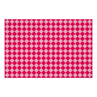 Pink Combination Diamond Pattern by Shirley Taylor Poster