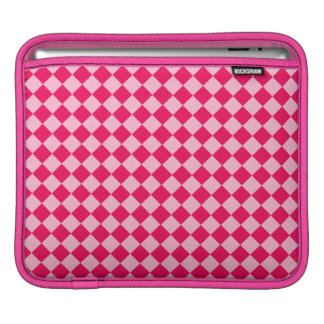 Pink Combination Diamond Pattern by Shirley Taylor Sleeve For iPads