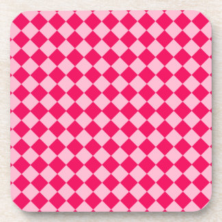 Pink Combination Diamond Pattern Drink Coasters