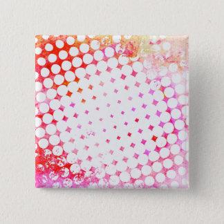 Pink Comic Book Blast Design Button