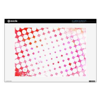 Pink Comic Book Blast Design Decals For Laptops