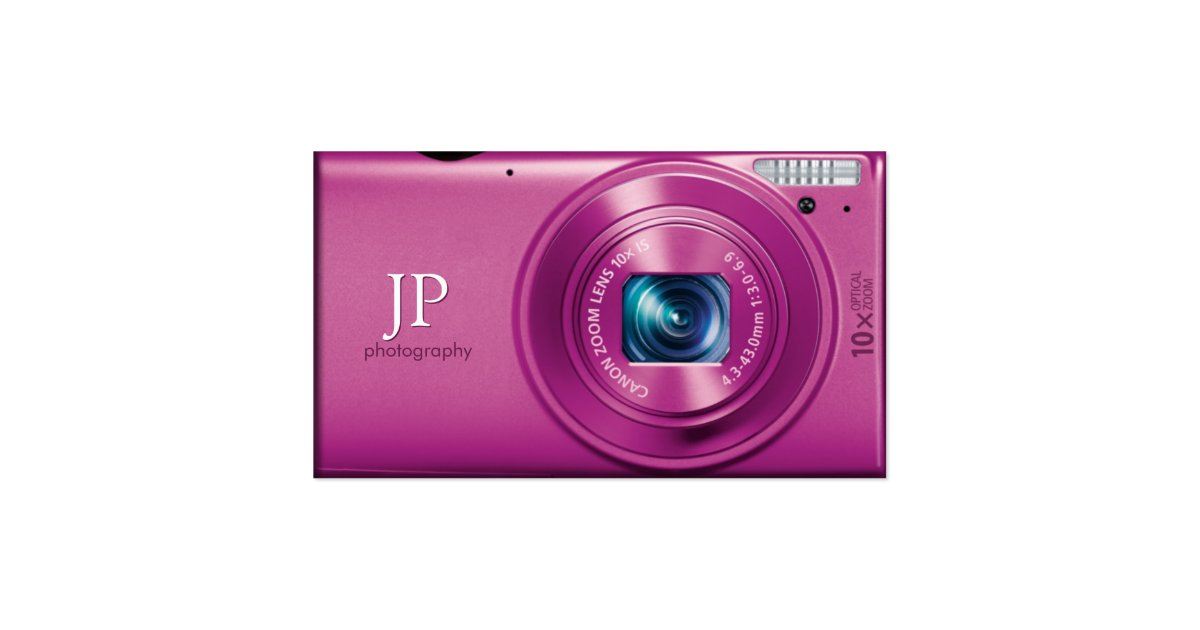 Pink pact Camera grapher Business Card