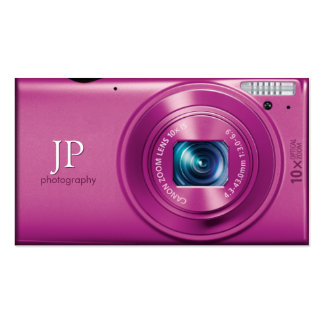 Pink Compact Camera Photographer Double-Sided Standard Business Cards (Pack Of 100)