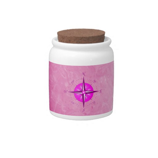 Pink Compass Rose Candy Dish