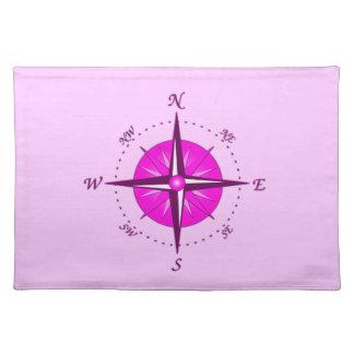 Pink Compass Rose Place Mat