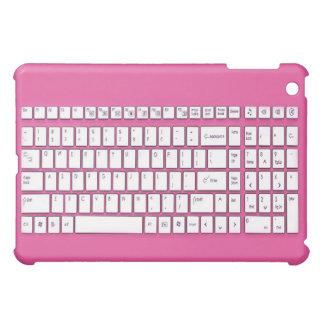 Pink computer keyboard iPad mini covers