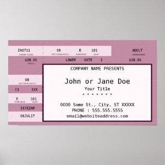 pink concert ticket poster