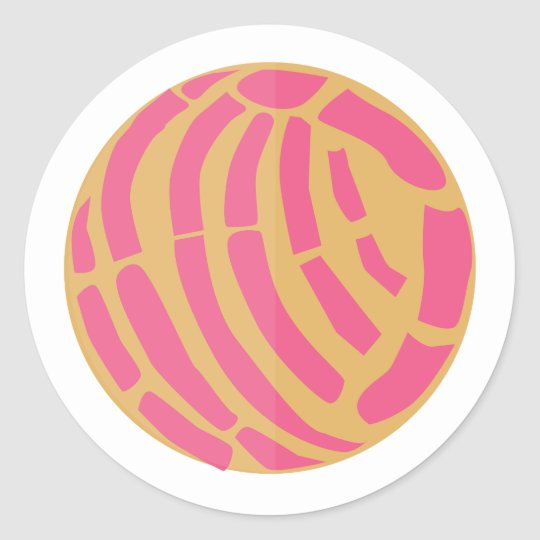 Pink Concha Méxican Sweet Bread Pan Dulce Classic Round Sticker