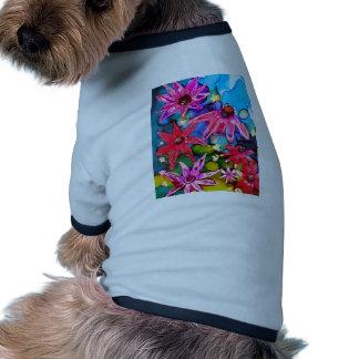 Pink Cone Flower Garden Art Dog Clothes