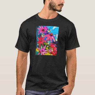 Pink Cone Flower Garden Art T-Shirt