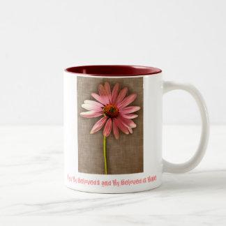 Pink Cone Flower -I am My Beloved's and My Beloved Mug