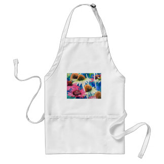 Pink Cone Flower Watercolor Painting Adult Apron