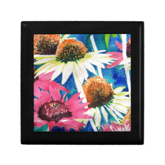 Pink Cone Flower Watercolor Painting Gift Box