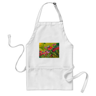Pink Cone Flowers Swaying In The Breeze Adult Apron