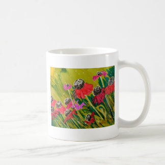 Pink Cone Flowers Swaying In The Breeze Coffee Mug
