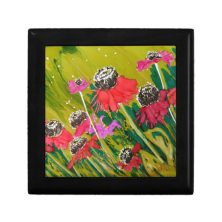 Pink Cone Flowers Swaying In The Breeze Trinket Boxes