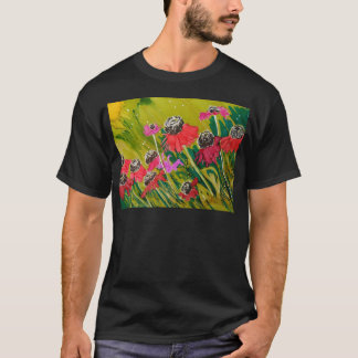 Pink Cone Flowers Swaying In The Breeze T-Shirt