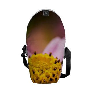 Pink Coneflower Messenger Bag