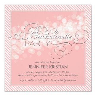 Pink Confetti Bachelorette Party Invitation