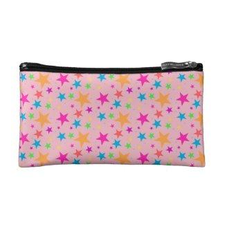 Pink Confetti Black Multi Makeup Bag