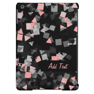 Pink Confetti Custom Name iPad Air Case