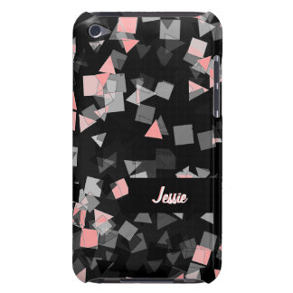 Pink Confetti Custom Name iPod Touch Case