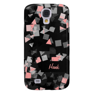 Pink Confetti Custom Text Galaxy S4 Cover