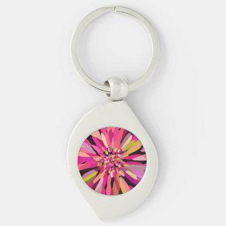 Pink Confetti Flower Keychain