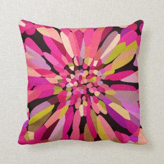 Pink Confetti Flower Throw Pillows