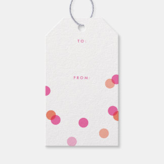 Pink confetti | Gift tags Pack of gift tags