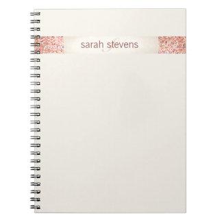 Pink Confetti Glitter Spiral Notebook