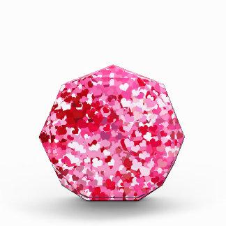 Pink Confetti Hearts Award