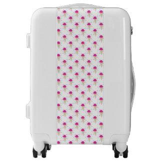 Pink Confetti Ice Cream Cones Luggage