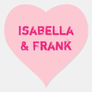 Pink Conversation Heart Heart Sticker