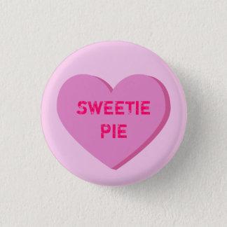 Pink Conversation Heart Template Pinback Button